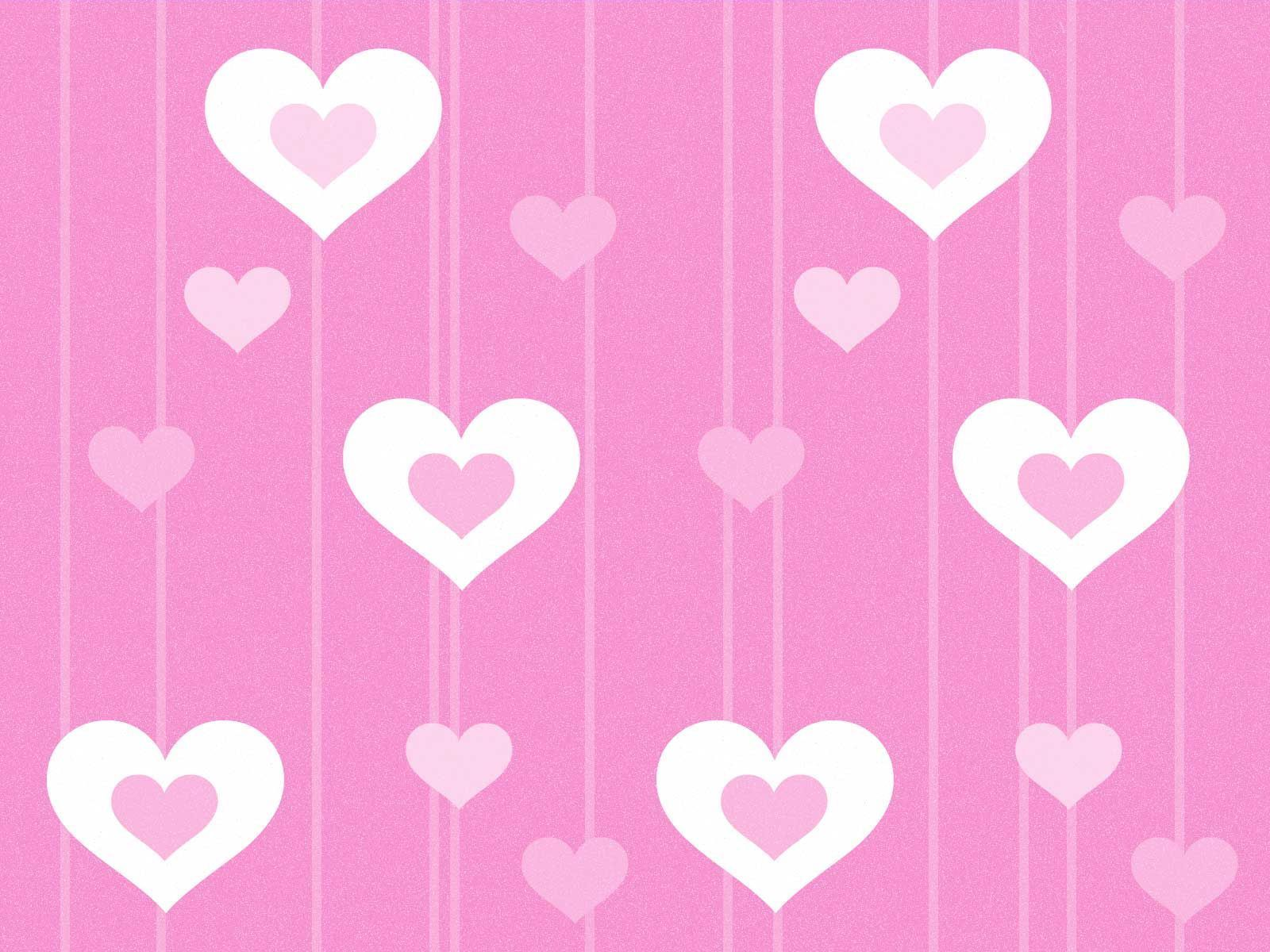 Love cute Heart Wallpaper : FOND D EcRAN//coeur rose